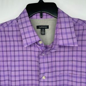 Van Heusen Purple Casual Shirt 16-16.5